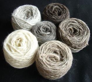 手紡ぎ毛糸